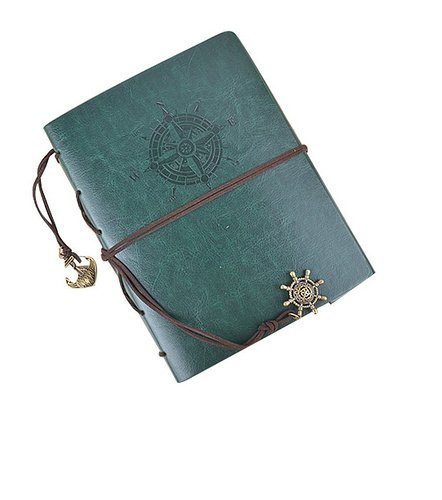 60 Pages 21.8 x 18 cm Hand Scrapbook DIY Vintage PU Leather Family Photo Mini Album Book with Belt for Instax Mini 70 7S 8 25 50S 90,WIDE 300,WIDE 210 Films - Green by PAT