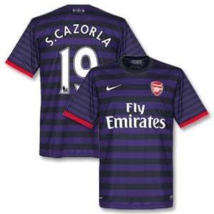 7cf2d7a5525 12-13 Arsenal Away Shirt + S. Cazorla 19-M  Amazon.co.uk  Sports ...