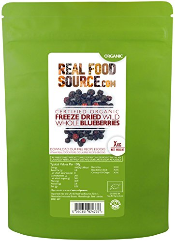 RealFoodSource Certified Organic Freeze Dried Blueberries (200g) Test