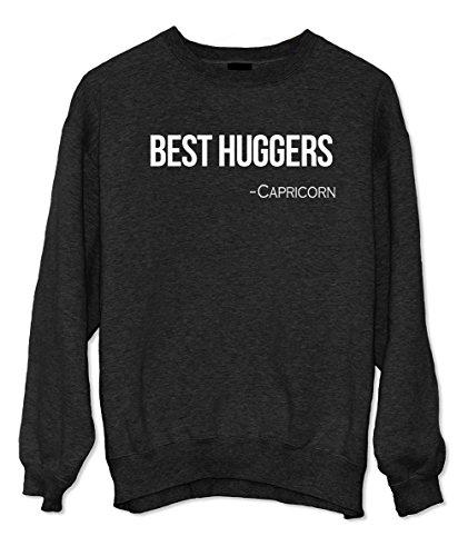Best Huggers - Capricorn Zodiac Sign Zitat Sweatshirt Schwarz Small -