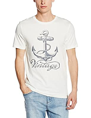 Jack & Jones Vintage Men's Jjvshipwreck Ss Tee Crew Neck T-Shirt