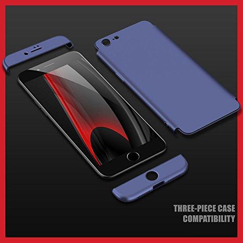 Vanki® Coque iPhone 7 Plus , Ultra Rigide Léger 360 Case Degres Souple 3-en-1 PC Récurer Protector Shell pour iPhone 7 Plus Bleu Marine