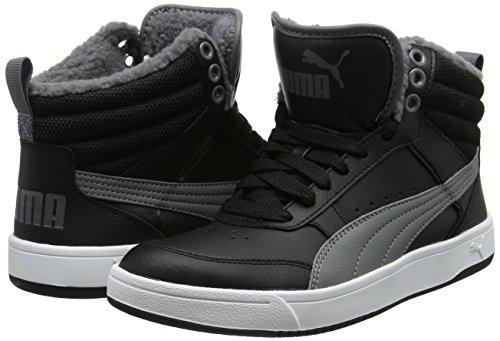 Puma Unisex-Kinder Rebound Street v2 Fur V PS Sneaker, Schwarz (Black-Smoked Pearl), 29 EU
