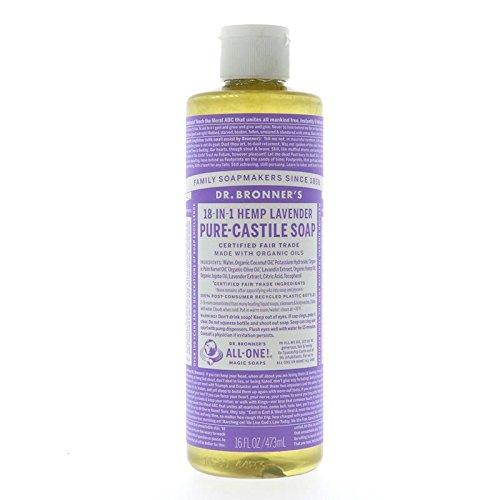 18 In 1 Hanf (Dr. Bronner´s Naturseife Lavendel 18-in-1 Magic Soap natürliche Flüssigseife aus biologischem Anbau, vegan, keine Zusatzstoffe, Fair Trade zertifizierte Bioseife (1x475ml))