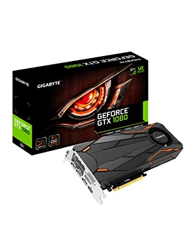 Foto Gigabyte GTX 1080 Turbo OC 8G - Schede grafiche (GeForce GTX 1080, 8 GB, GDDR5X, 256 bit, 7680 x 4320 pixels, PCI Express x16 3.0)