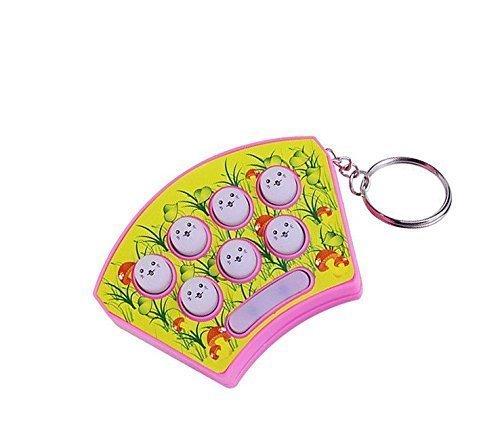 UChic 1 STÜCKE Whack Mole Hamster Angriff Hit Mole Elektronische Baby Kinder Whack-A-Mole Spiel Mit Keychain Konsolen Elektronische Brettspiel Mini Handheld Spielkonsole (zufällige Farbe)