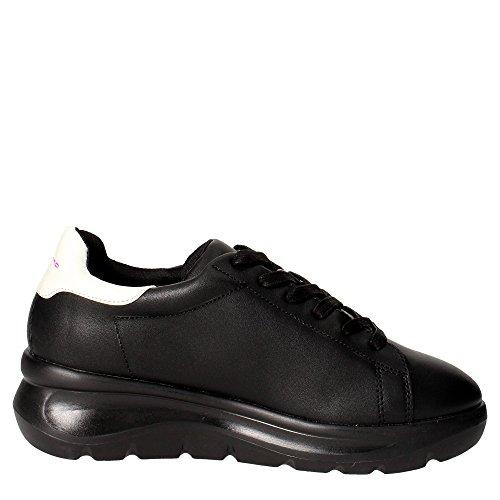 Fornarina sneaker con zeppa color black articolo PIFVH9545WVA0001 VENERE-BLACK Nero
