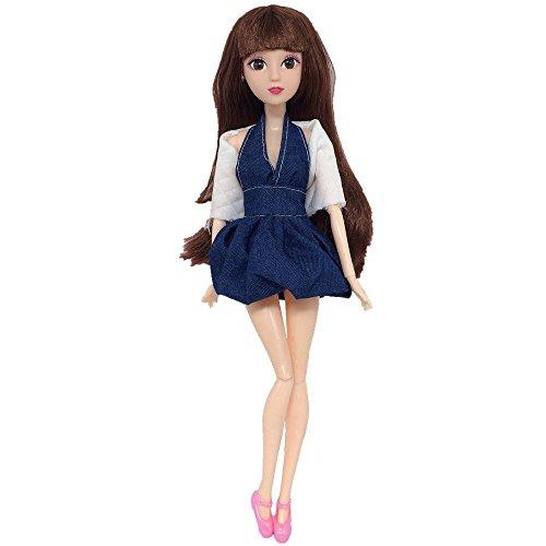 TianranRT Barbie Kleidung Hochzeit Kleid 1Set Puppe Kleid Bis Kleidung Menge Billig Puppe Zubehör Handgemacht Kleidung (A)