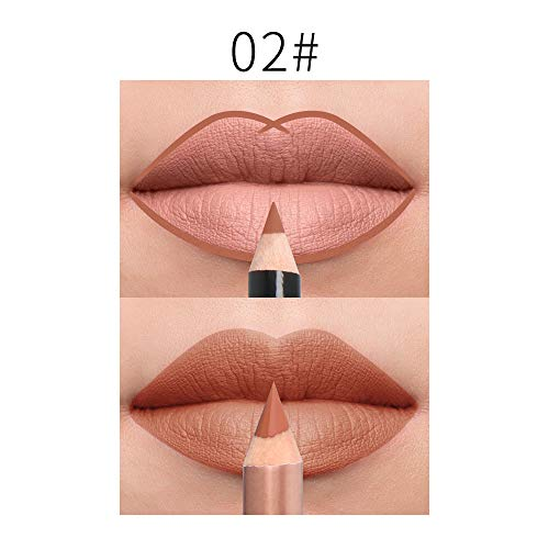 LIGGZ 15 Farben, wasserdicht Matte Lippenstift Bleistift Lip Liner Make-up kontur lippentönung sexy matt langlebige feuchtigkeitscreme lipliner - Perfekte Lippen Bleistift