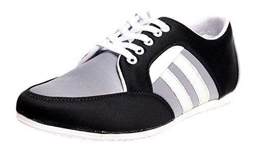 lacent chaussures pour hommes casual wear de glissement sur la conduite pantoufle chaussures Gris et noir