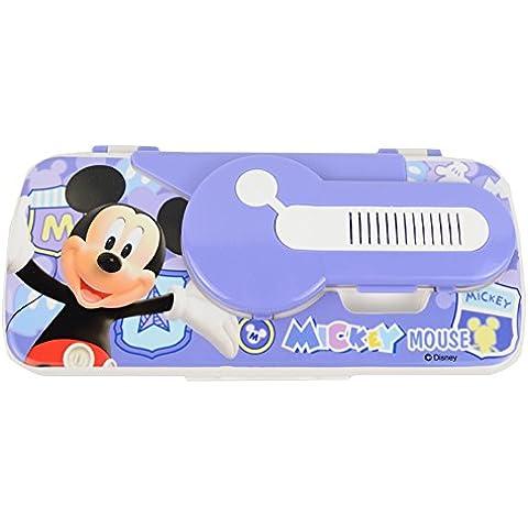 Disney Mickey Mouse encantador creativo peine Espejo de plástico caja de lápiz de 83040-05 (Azul)