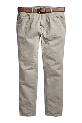 next Herren Jeans Mit Gürtel Gerade Geschnitten 5 Taschen Design Steinfarben EU 112 Regular (UK 44R) (Cargo-wolle Hosen)