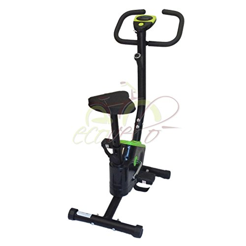 OFFERTA CYCLETTE BELT CARDIO FITNESS POWER BIKE HOME ALLENAMENTO BICI DA CAMERA (VERDE)
