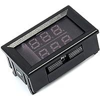 TOOGOO 0.56 pulgadas Rojo + Azul Termometro LED digital de doble pantalla Medidor de temperatura Modulo sensor de sonda de metal impermeable -20 ~ 100 grados Celsius