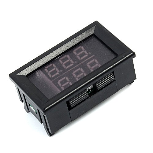 SODIAL 0,56 Zoll rot + blau Dual Display Digital LED Thermometer Temperatur Meter wasserdicht Metall Sonde Sensor Modul -20 ~ 100 Celsius