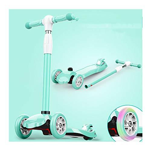 GSBMQ Kinder Roller 3-6-14 Jahre altes Kind dreirädrigen Klapproller rutschig Rutsche, Mini-Roller, Klapproller, niedlichen Roller-Blue