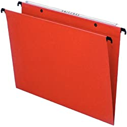 Esselte 10202 Orgarex Kori Lot de 25 Dossier Suspendu Vertical Fond V A4 Onglets Inclus, Orange