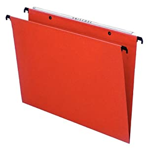 Esselte Kori Manilla Pack of 25 Folders Drawer V-shaped base orange
