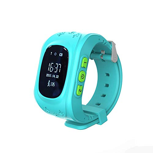 HHJ wasserdichte Kinder Smart Watch | Smartwatch| Armbanduhr | GPS,SOS, Telefon, Sprachnachrichten, Standortlokalisierung per App, Ortung, Tracker | - verwendbar mit Micro SIM Karte (Blau) Alarm-telefon