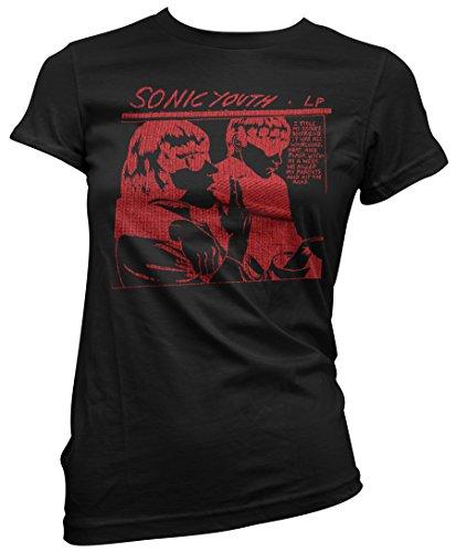 T-shirt Donna Sonic Youth - Red Texture Maglietta 100% cotone LaMAGLIERIA Nero