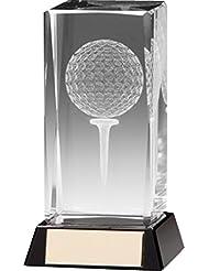LONGRIDGE Lanark Trophée de golf Transparent 90 mm