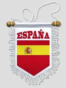 KOO Interactive - Fanion Voiture Espagne Espana - 13 x 15 cm - Blason Ecusson Football