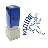 Excellent Message, Kangaroo Design Self-Inking Teacher Marking and Praise Stamp