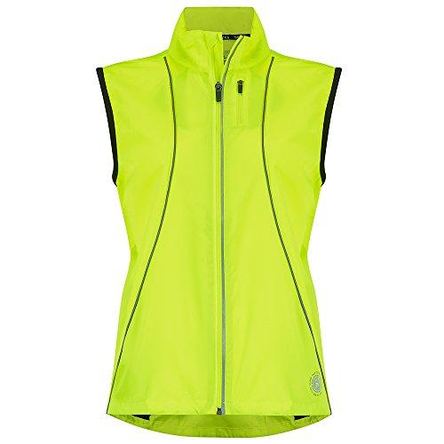 Time to Run Windfeste Joggingveste für Damen Limette Grün 42