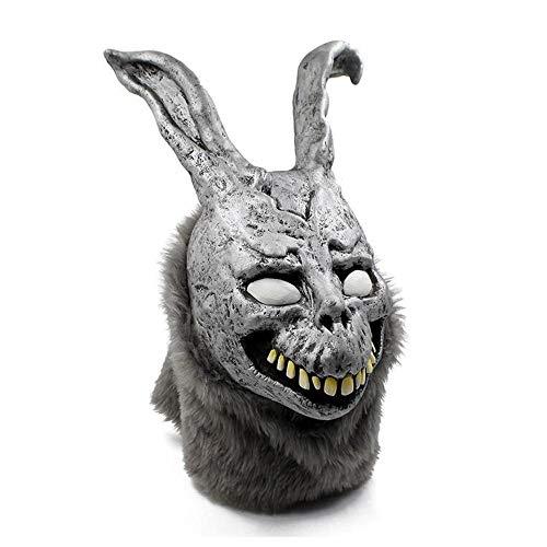 Rwdacfs Masken für Erwachsene,Evil Bunny Cosplay Maske Haunted House Helm Haube