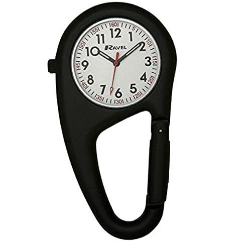 Ravel Unisex-Armbanduhr Ravel Matt Black Belt Clip Watch.Fully Secure to