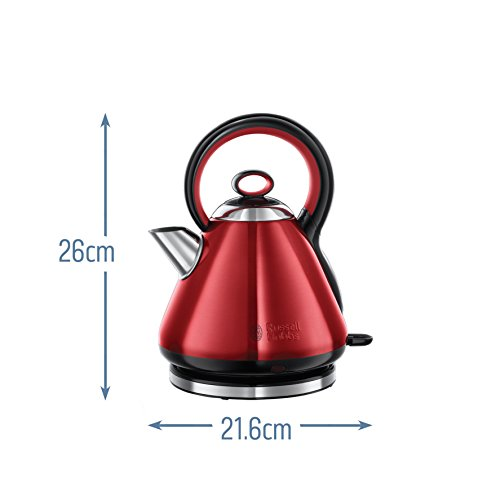 Russell Hobbs 21885 Legacy Quiet Boil Electric Kettle, 3000 W, 1.7 Litre, Red