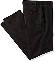 IZOD Uniform Young Mens Flat Front Straight Fit Pant,Black,42x30