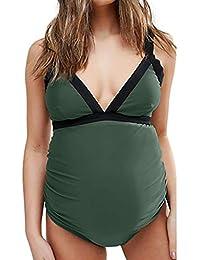 Embarazada Bikini Trajes de Baño de Una Pieza para Mujer Bañadores para Embarazadas Deporte Premama