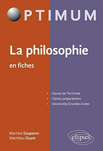 La Philosophie en Fiches par Martine Gasparov
