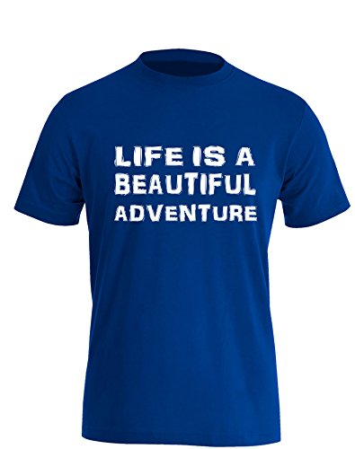 Life is a Beautiful Adventure - Herren TShirt Royal / Weiß