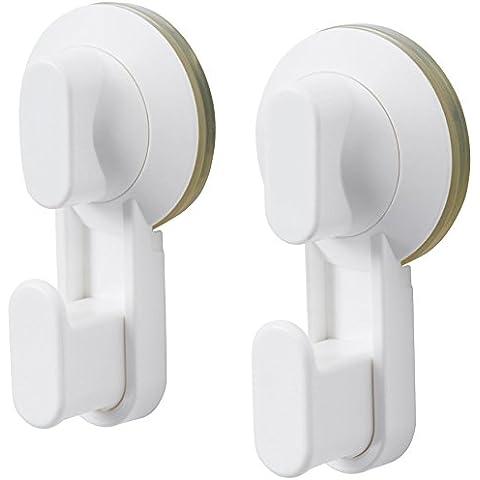 IKEA STUGVIK estándar de calidad ventosa gancho Perchas Grip en azulejos de espejos de baño soporte para uso frecuente Stugvik blanco (2 piezas) White , Assorted Colours