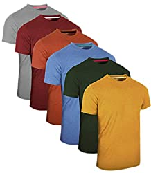 FULL TIME SPORTS® 3 4 6 Pack Assorted Langarm-, Kurzarm Casual Top Multi Pack Rundhals T-Shirts (XX-Large, 6 Pack - Pastels Assorted)