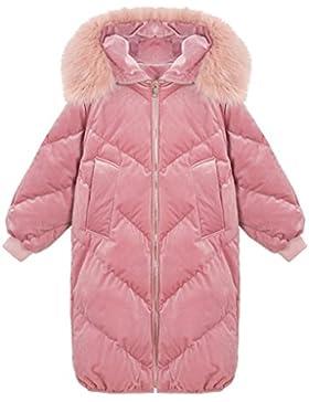 lime Las mujeres suaves elegantes mangas largas chaqueta cálida engrosamiento abajo abrigo ocio engrosamiento...