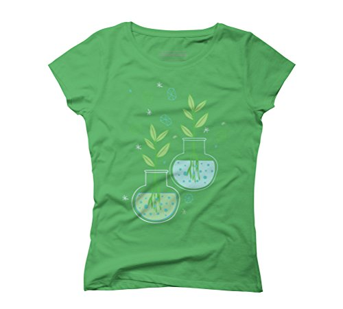Botany Women's Graphic T-Shirt - Design By Humans Green