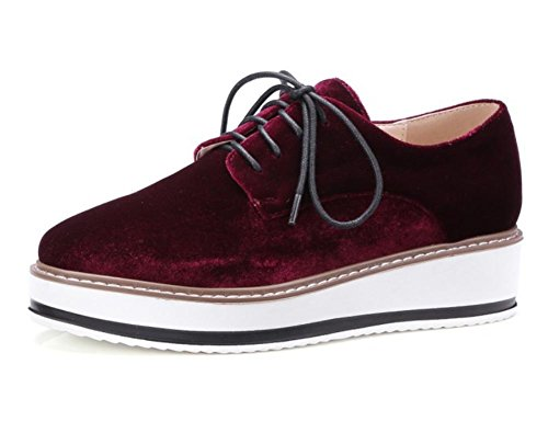 Damenschuhe Schuhe Freizeitschuhe Herbst Student Frau Aufzug Schuhe laufen purple red