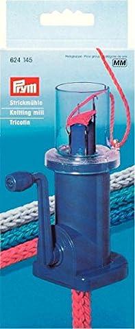 PRYM 15118 Tricotin mécanique avec 4 Crochets Plastique Bleu 14 x 10 x 0,02 cm