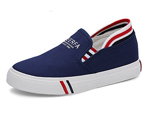 Minetom Donne Estate Autunno Scarpe Di Tela Moda Loafer Scarpe Leisure Fitness Espadrillas Blu