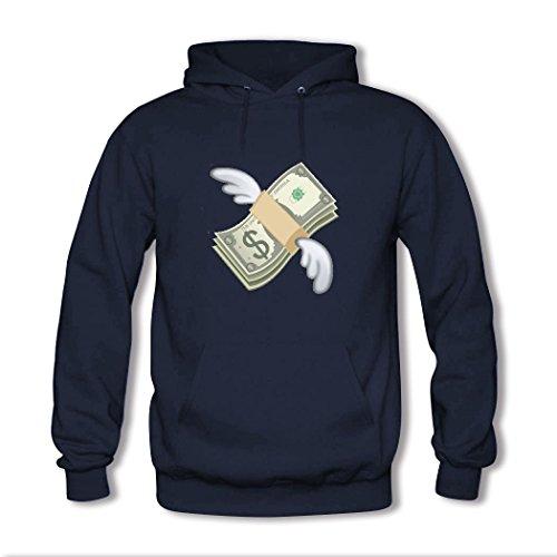 HGLee Printed Personalized Custom Emoji Stickers Women's Sweatshirts Hooded Hoodies Navy--3