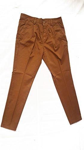Besilent - Pantalone uomo (tasca america,pences) (54, tabacco)