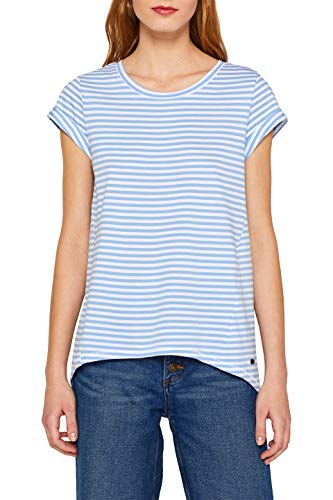 edc by ESPRIT Damen 059Cc1K003 T-Shirt, Blau (Light Blue 440), Herstellergröße: XX-Large