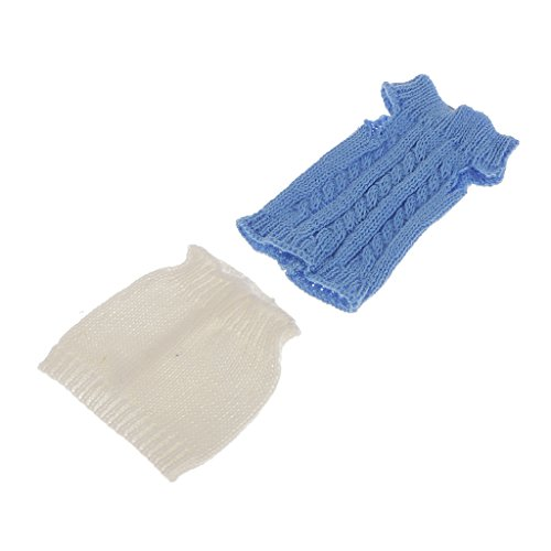 Generic Blue Knit Tops w. White Skirt Clothes Outfit for 29cm Barbie Doll Dress  available at amazon for Rs.240