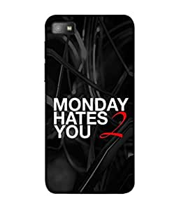 PrintVisa Designer Back Case Cover for Blackberry Z10 (why the hell Monday comes)