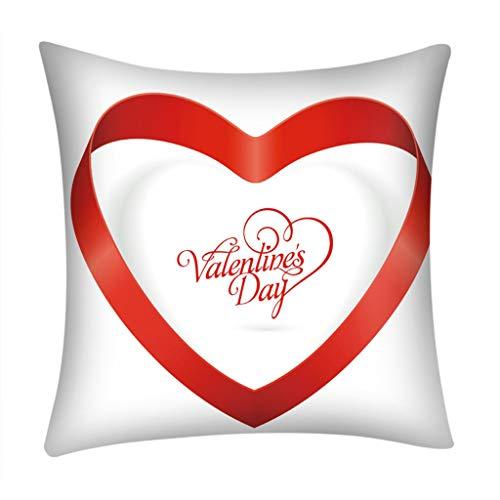 Momoxi Kopfkissenbezug, Valentinstag Print Kissenbezug Polyester Sofa Auto Kissenbezug Home Decor