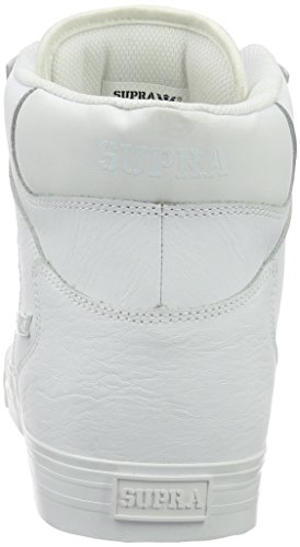 Supra Vaider, Sneakers Hautes mixte adulte Blanc (WHITE / RED - WHITE WWR)