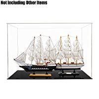 Tingacraft Acrylic Display Case (56 x 36 x 37 cm) Football/Model Warship, Self-Assembly